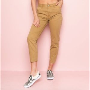 brandy melville marla pants in OLIVE GREEN COLOR